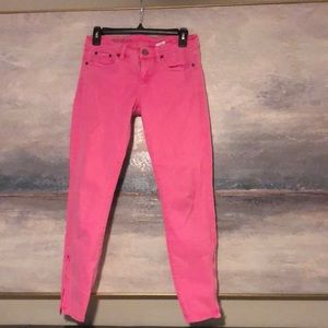 J. Crew pink ankle pant/jean